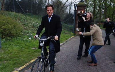 Mark Rutte fiets